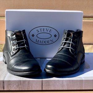 Sale Steve Madden Elect Cap Toe Leather